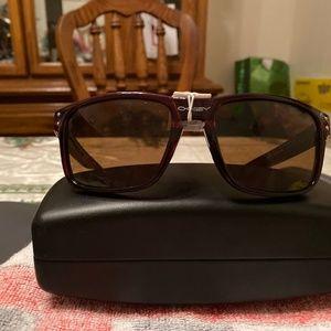 Oakley Dark Red Sunglasses NWT Holbrook